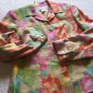 Doncaster Silk/Linen Floral Jacket